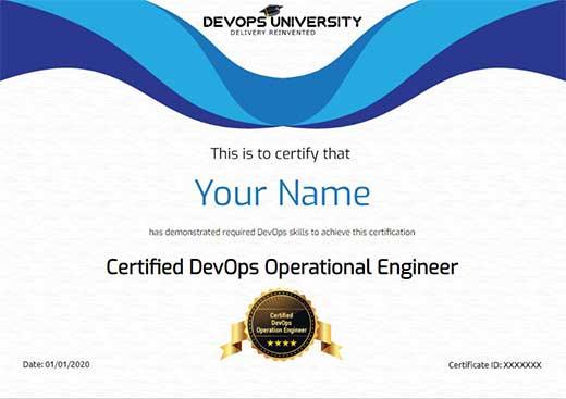 Certified DevOps Operational Engineer Certification