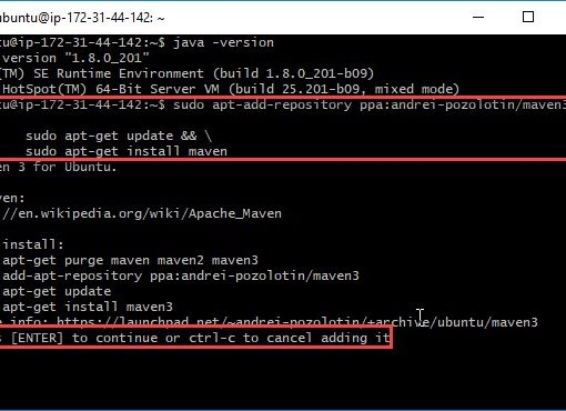 Run Commands on the Ubuntu VM Step 8