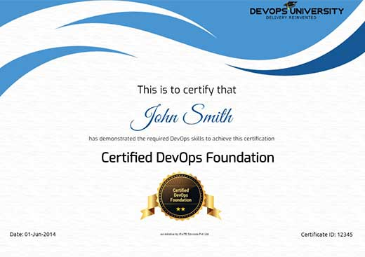 Certified DevOps Foundation Certification