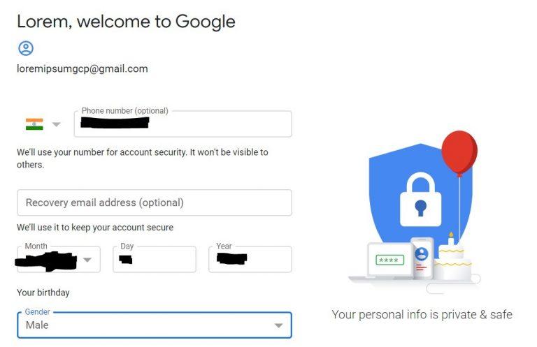 GCP Setup Create Gmail Account 2