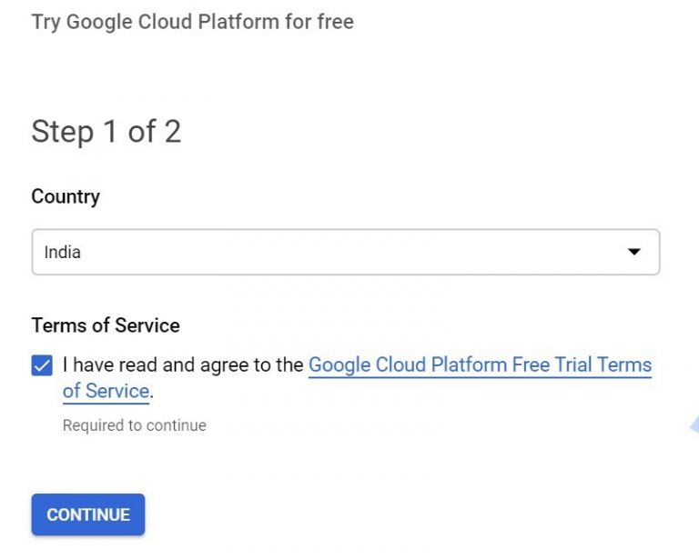 GCP Setup Enable To Receive 300 Credit 2