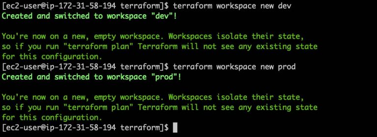 Execute Terraform Workspace