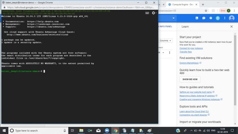Run Commands Ubuntu VM 4