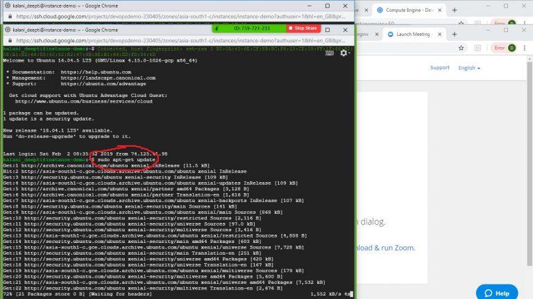Run Commands Ubuntu VM Step 5
