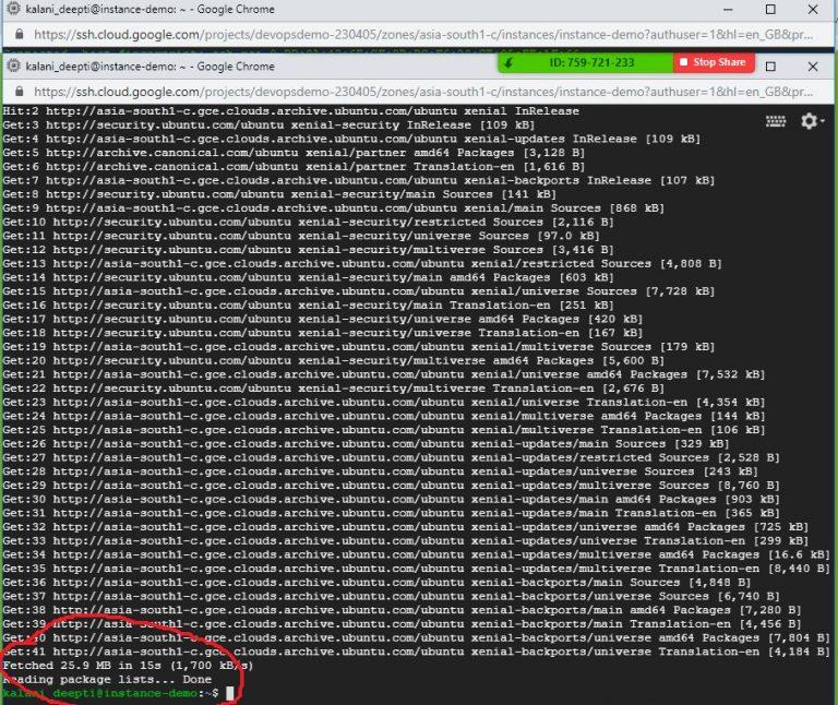 Run Commands Ubuntu VM Step 6