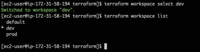 Switch Between Terraform Workspace