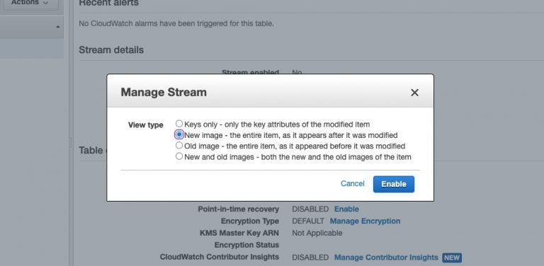 Create And Manage DynamoDB Streams
