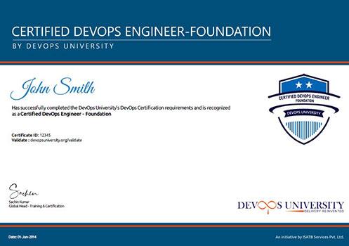 Certified DevOps Engineer Foundation