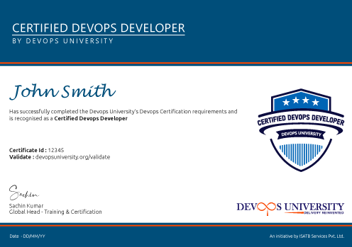 Certified DevOps Developer Certification