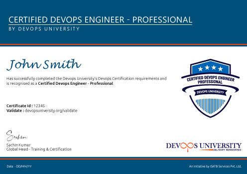 Certified DevOps Engineer Professional