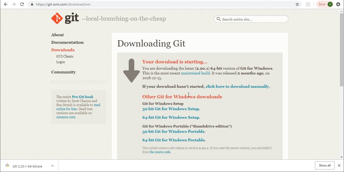 Download Exe for Git Step-2