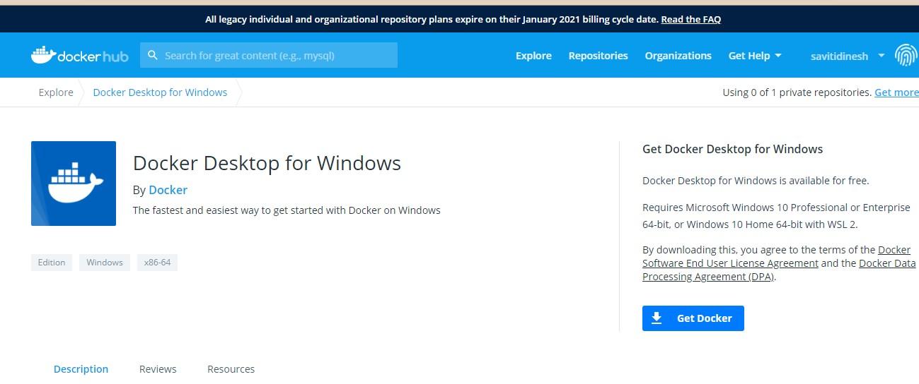 Step-6 Docker Installation on Windows