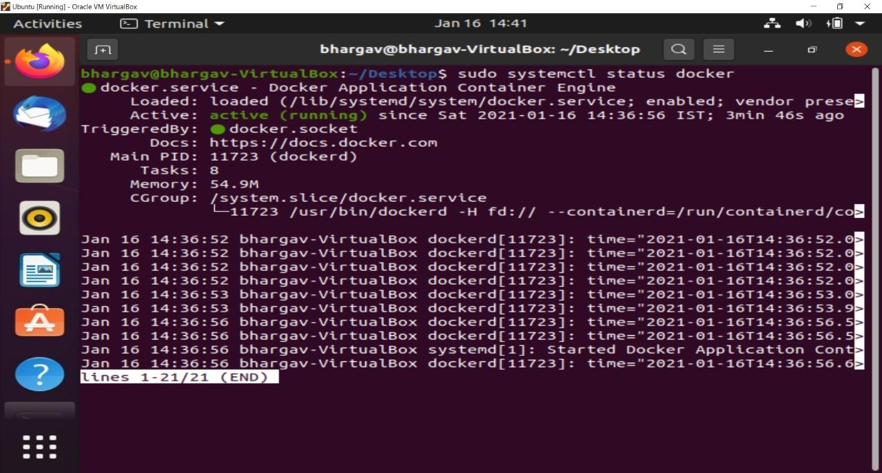 Docker Installation on Linux Step-7