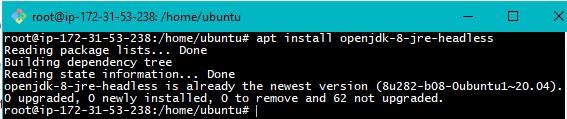 Java Installation on Ubuntu Step3
