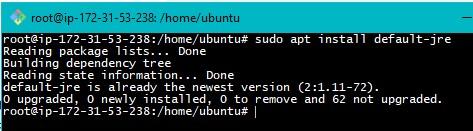 Java Installation on Ubuntu Step4