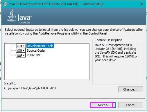 Java Installation Step4