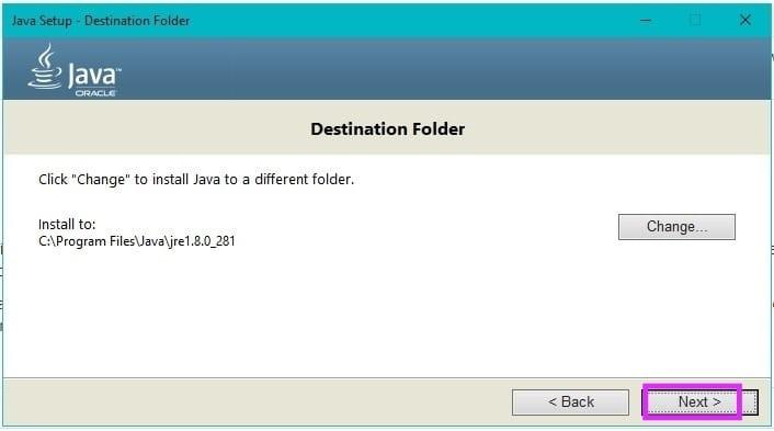 Java Installation Step5