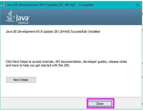 Java Installation Step6