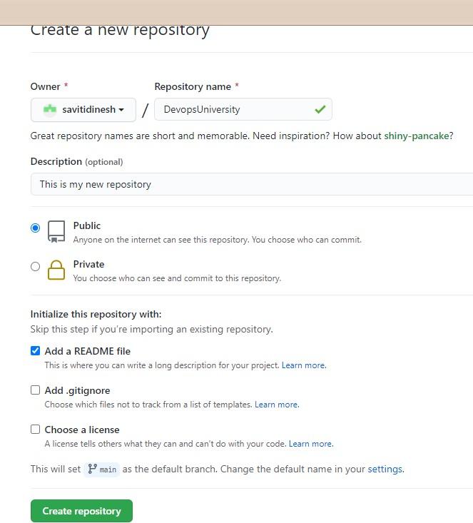 Create GitHub Repository